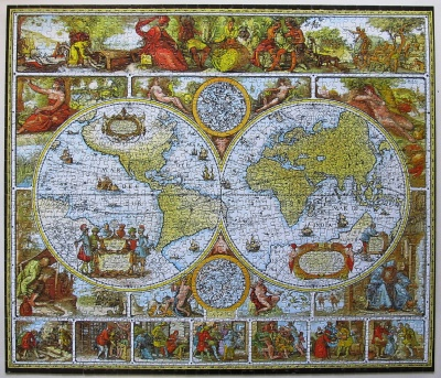 Antique World Map Puzzle.1250 Antique World Map Jigsaw Wiki